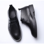 Leather Men's short boots are retro in England