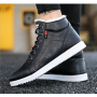 Men's casual high top cotton shoes