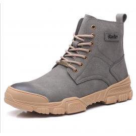British breathable leather Martin boots