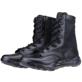 High leather Martin boots